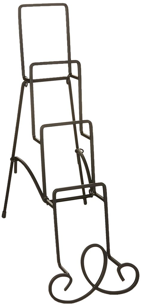 Tripar International Augusta Black Metal 4 Teir Step Plate Stand