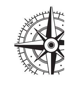 Darice Embossing Folder 4.25x5.75 inch - Compass