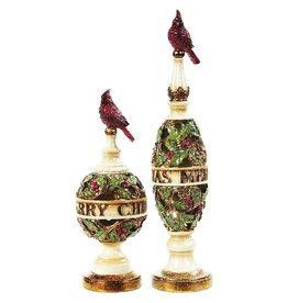 Mark Roberts Christmas Decorations Vintage Style Bird Finials Set of 2