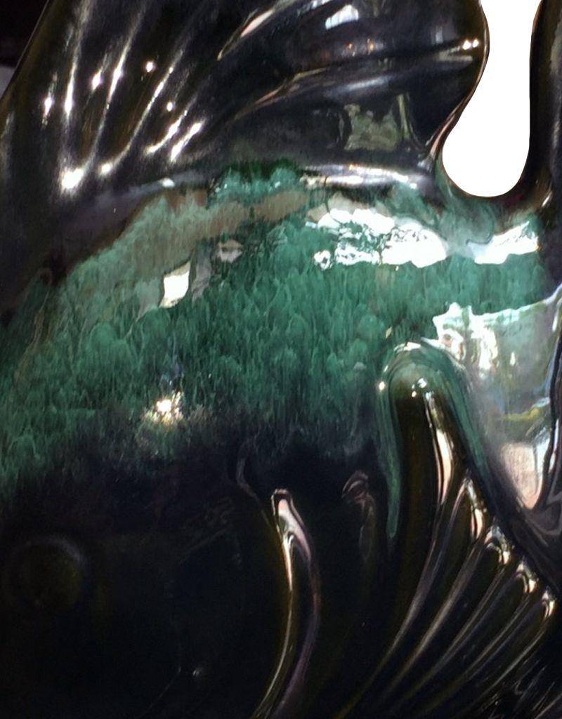 Decorative Ceramic Angel Fish Table Sculpture 14x12x4.25