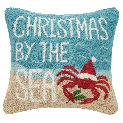 Peking Handicraft Christmas By The Sea Hook Pillow 16sq