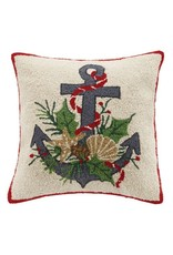 Peking Handicraft Christmas Anchor Hook Pillow 18sq