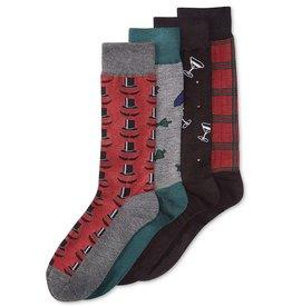 Digs Club Room Mens 4PK Great Gentlemen Pattern Dress Socks