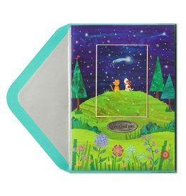 Papyrus Greetings Pet Sympathy Card Hilltop with Dog and Cat