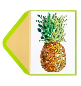 Papyrus Greetings Thank You Card Gem Pineapple