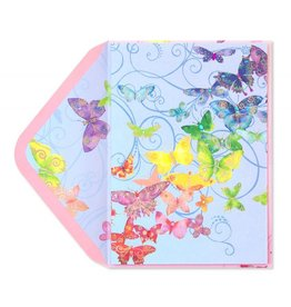Papyrus Greetings Birthday Card Butterflies in Rainbow Colors