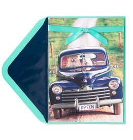 Papyrus Greetings Anniversary Card Two Dogs in Truck
