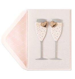 Papyrus Greetings Wedding Card Lesbian Mrs and Mrs Champagne Flutes