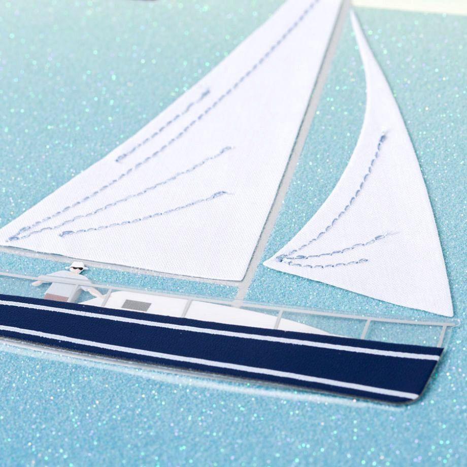 Papyrus Greetings Birthday Card Handmade Sailboat