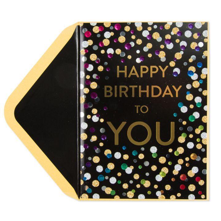 Papyrus Greetings Birthday Card Confetti Happy Birthday To You