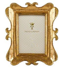 Twos Company Brocante Gold Leaf Frames 5x7 in