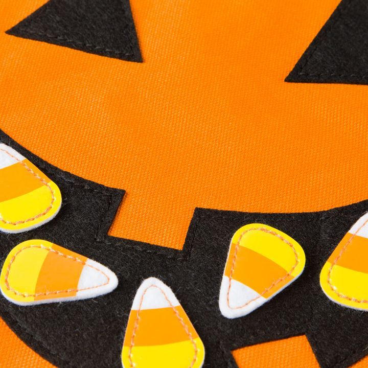 Papyrus Halloween Candy Bag Sack Jack-O-Lantern w Candy Corns