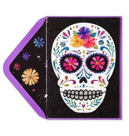 Papyrus Greetings Halloween Day of the Dead Card Colorful Skull