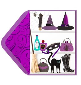 Papyrus Greetings Halloween Card Witches Wardrobe Closet