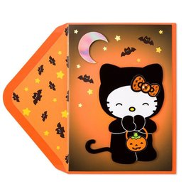 Papyrus Greetings Halloween Card Hello Kitty In Cat Suit