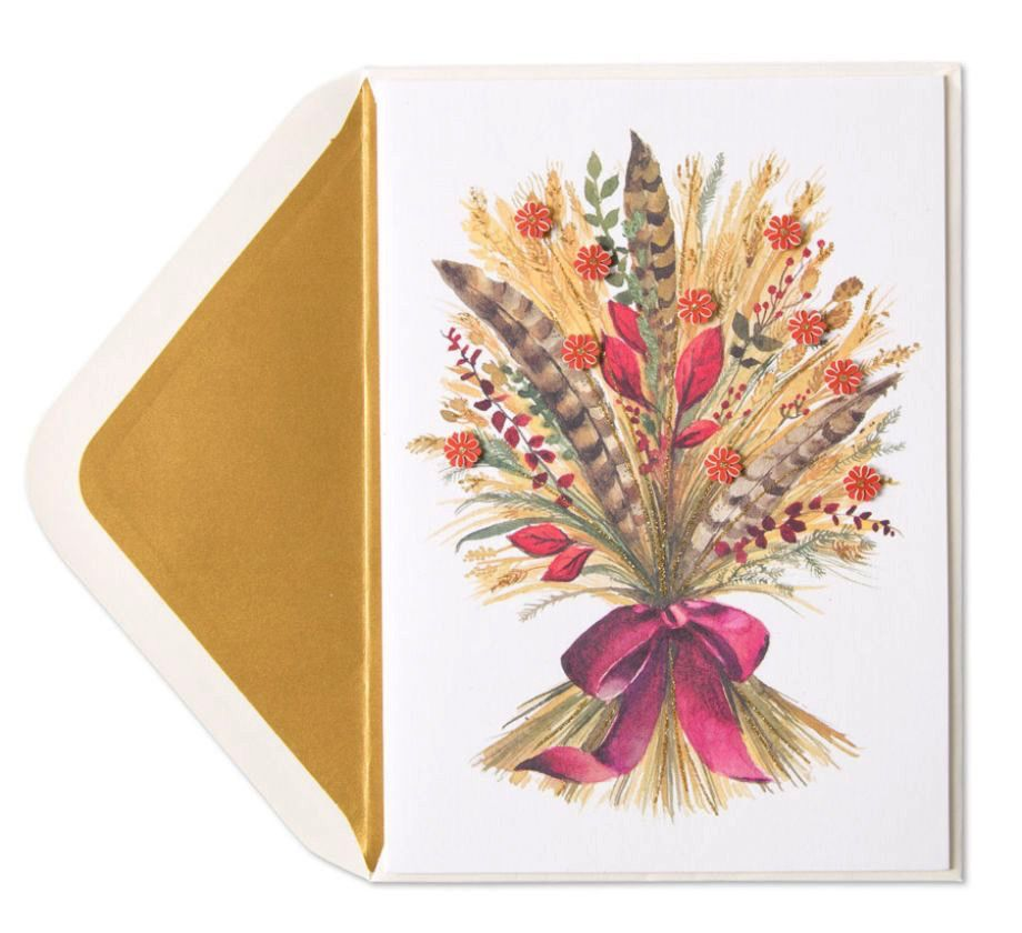 Papyrus greetings thanksgiving card wheat and feathers bunch digs papyrus greetings thanksgiving card wheat and feathers bunch m4hsunfo