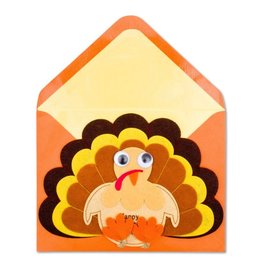 Papyrus Greetings Thanksgiving Card Felt Happy Turkey Day