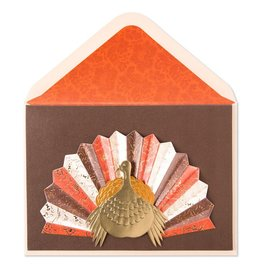 Papyrus Greetings Thanksgiving Card Turkey W Pleated Tail