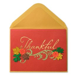 Papyrus Greetings Thanksgiving Card Thankful Paper Sculpture
