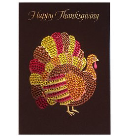 Papyrus Greetings Thanksgiving Card Gemmed Turkey
