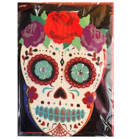 Papyrus Greetings Halloween Day Of The Dead Banner With Skulls