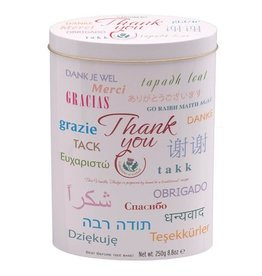 Gardiners of Scotland Thank You Tin  in Various Languages w Vanilla Fudge