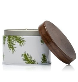 Thymes Frasier Fir Poured Candle 6.5oz Tin w Pine Needle Design