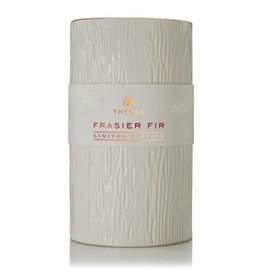 Thymes Frasier Fir Ceramic Gilded Poured Candle Pillar 14oz
