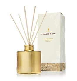 Thymes Frasier Fir Reed Diffuser Set Petite 4oz Gold