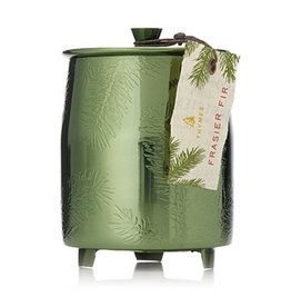 Thymes Frasier Fir Green Metal Tin Candle w Lid 9.5oz