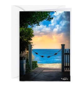 Charles W Blank Note Card -  Cash - Gift Card Holder - By The Sea