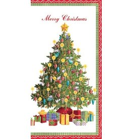 Caspari Christmas Money Card - Christmas Morning Tree w Presents