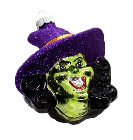 Christopher Radko Shiny Brite Blown Glass Halloween Ornament - Witch
