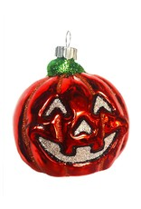Christopher Radko Shiny Brite Blown Glass Halloween Ornament - Pumpkin