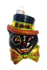 Christopher Radko Shiny Brite Blown Glass Halloween Ornament - Black Cat
