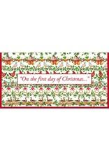 Caspari Christmas Money Cards 4pk - Twelve 12 Days of Christmas
