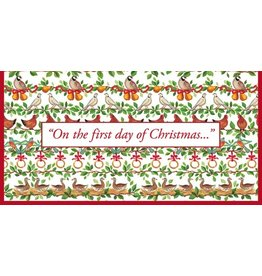 Caspari Christmas Money Cards 4pk - Twelve 12 Days of Christmas