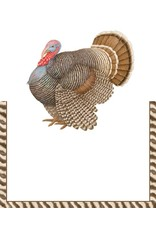 Caspari Thanksgiving Place Cards Tent Style 8pk Thomas Turkey
