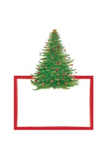 Caspari Christmas Place Cards Tent Style 8pk Glittering Tree