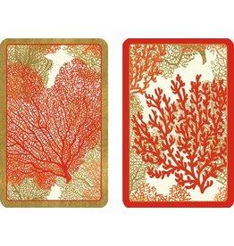 Caspari Playing Cards Bridge Cards 2 Decks Jumbo Text - Sea Fans