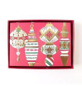 Papyrus Greetings Boxed Christmas Cards Sonata Vintage Ornaments 14pk