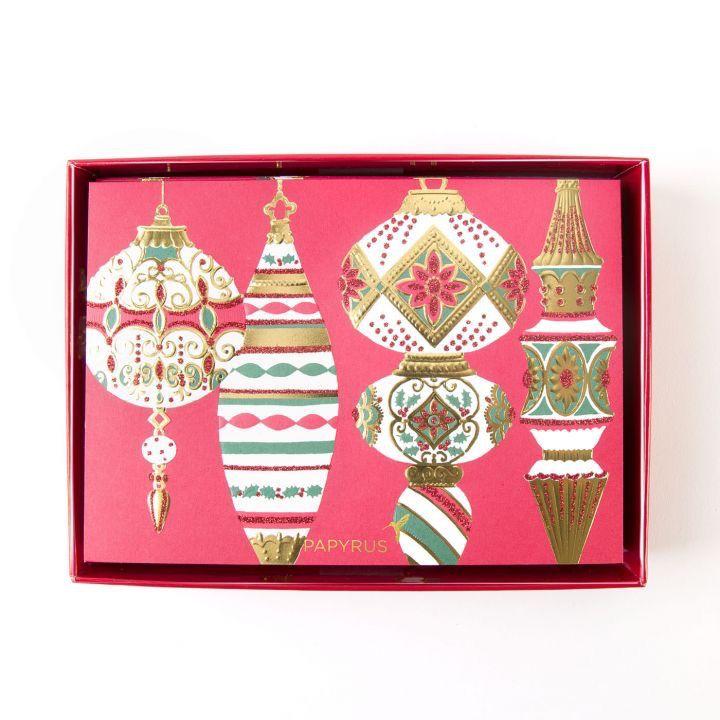 Papyrus Greetings Boxed Christmas Cards Sonata Vintage Ornaments ...