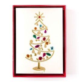 Papyrus Greetings Boxed Christmas Cards Glamorous Gem Tree 8pk