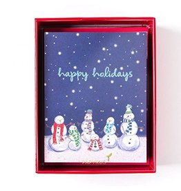 Papyrus Greetings Boxed Christmas Cards Snowman Family 20pk