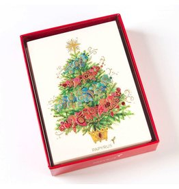 Papyrus Greetings Boxed Christmas Cards Ombre Christmas Tree 12pk