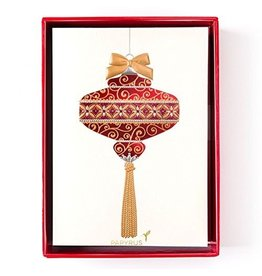 Papyrus Greetings Boxed Christmas Cards Aria Glam Ornament 12pk