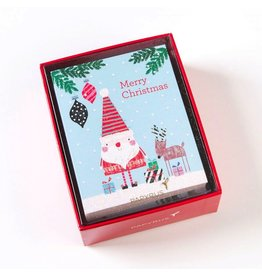 Papyrus Greetings Boxed Christmas Cards Doodle Santa n Reindeer
