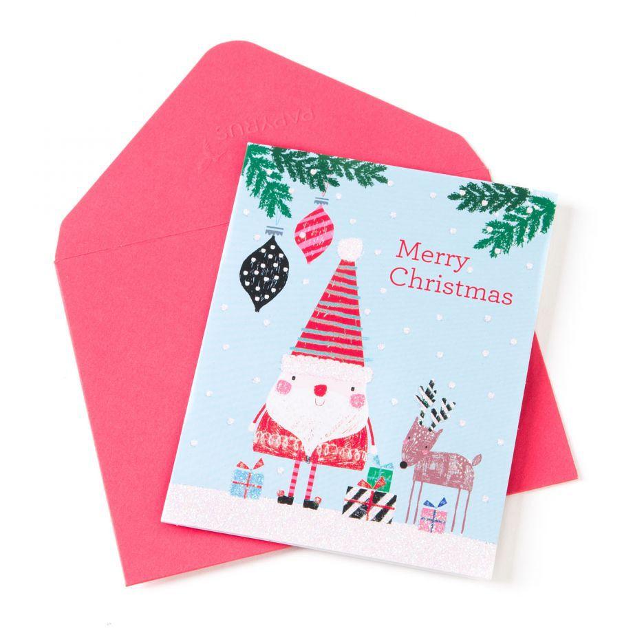 Papyrus Greetings Boxed Christmas Cards Doodle Santa n Reindeer ...