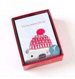 Papyrus Greetings Boxed Christmas Cards Cuddly Polar Bear 20pk