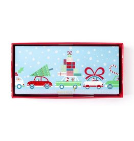 Papyrus Greetings Boxed Christmas Cards Christmas Commuters Cars 16pk